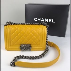 Chanel Small Quilted Lamb Skin Boy Flap Bag